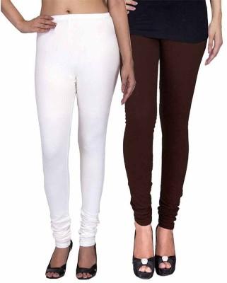 Ayesha Fashion Women's White, Brown Leggings