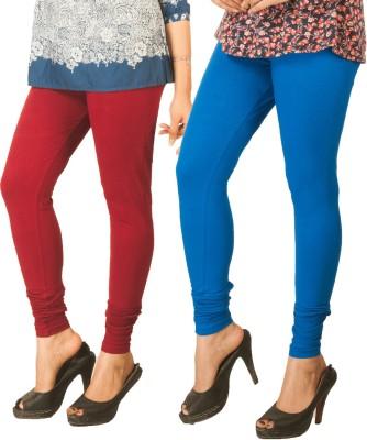 Berries Women's Maroon, Blue Leggings