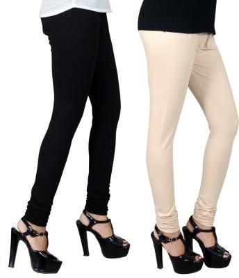 JSA Women's Black, Beige Leggings