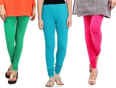 Sampoorna Collection Women's Green, Blue, Pink Leggings