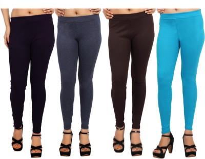 Comix Women's Purple, Grey, Brown, Light Blue Leggings