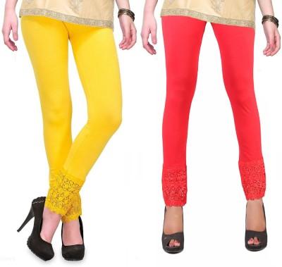 RobinRomeo Women's Orange, Yellow Leggings