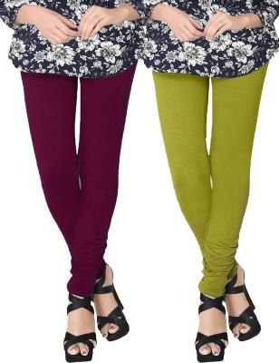 JV Wears Women's Maroon, Green Leggings
