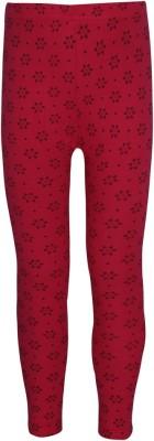 Jazzup Girl's Red Leggings
