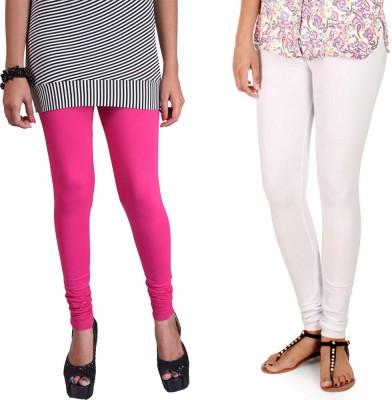 WellFitLook Women's Pink, White Leggings