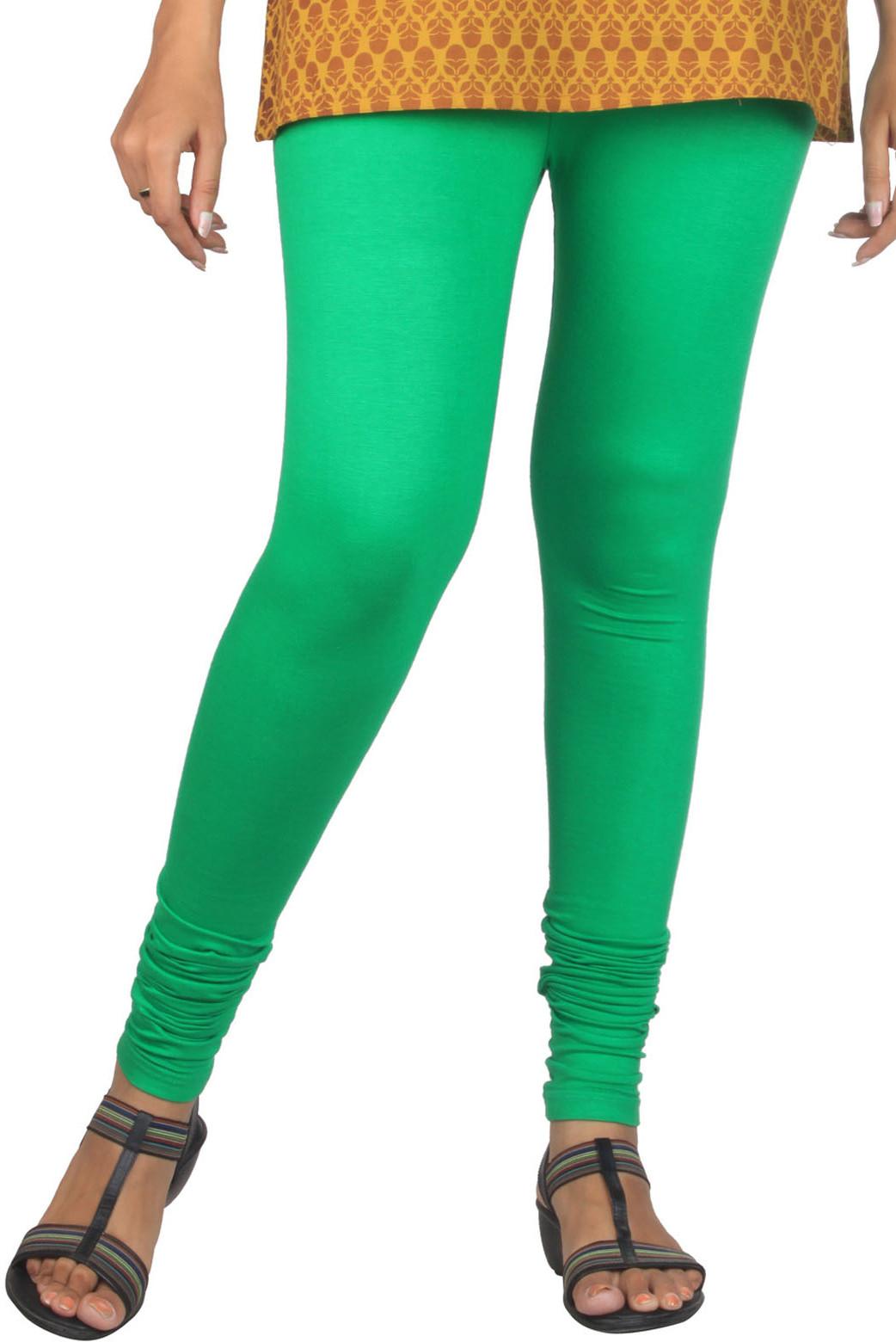 Aujjessa Womens Green Leggings