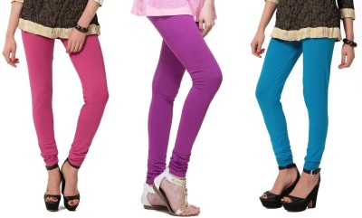 Angel Soft Women,s Pink, Purple, Light Blue Leggings