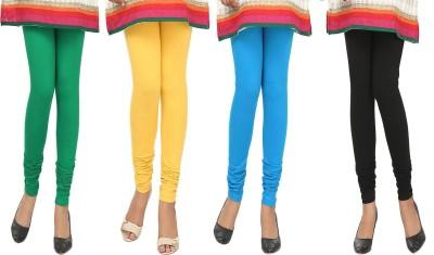 Agrima Fashion Women's Green, Yellow, Light Blue, Black Leggings