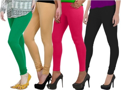 NGT Women's Black, Beige, Green, Pink Leggings