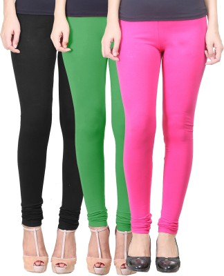 Eshelle Women's Black, Light Green, Maroon Leggings