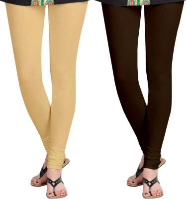 Roshni Creations Women's Brown, Beige Leggings