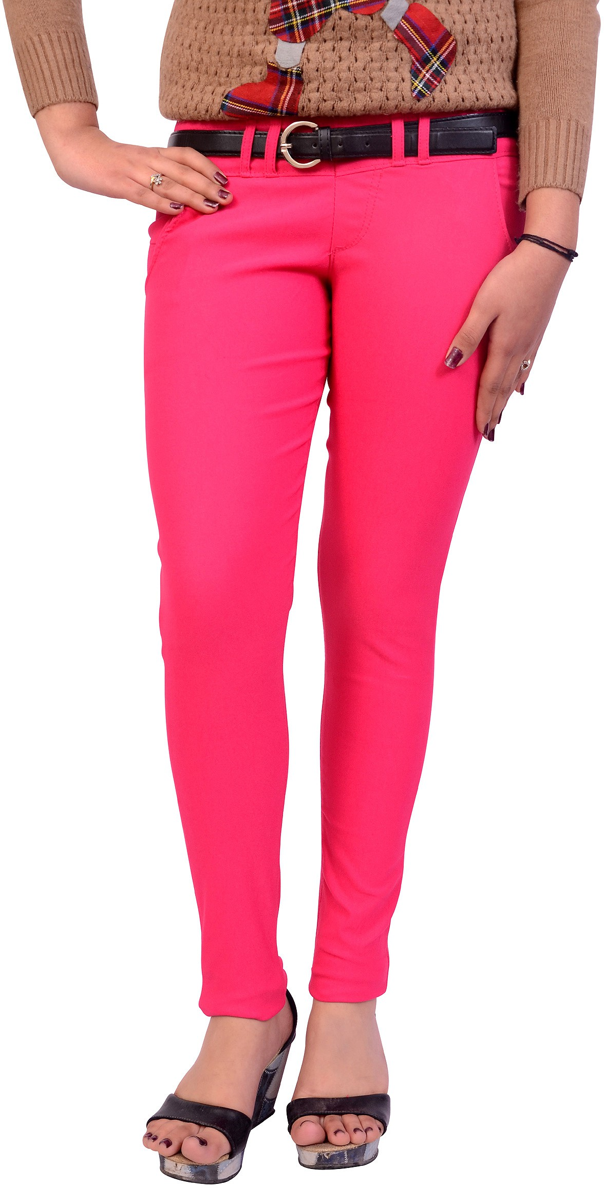 Cws Fashion Womens Pink Jeggings