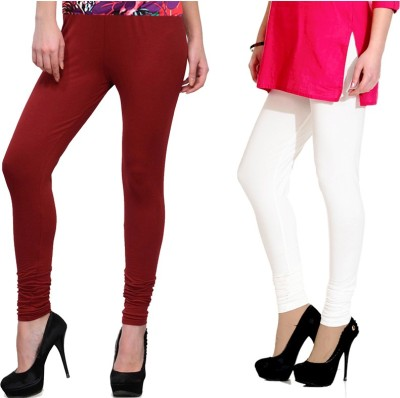 NGT Women's White, Maroon Leggings