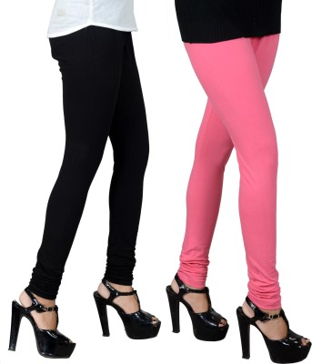 JSA Women's Black, Pink Leggings