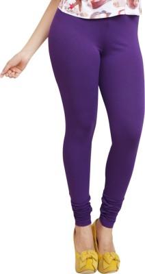 Lequeens Women's Purple Leggings