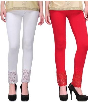 MDS Jeans Women's Red, White Leggings