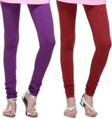 Zadine Women's Purple, Maroon Leggings