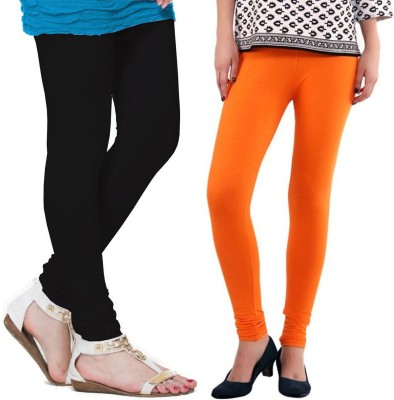 VP Vill Parko Women's Black, Orange Leggings