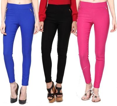 Dharamanjali Women's Blue, Black, Pink Jeggings
