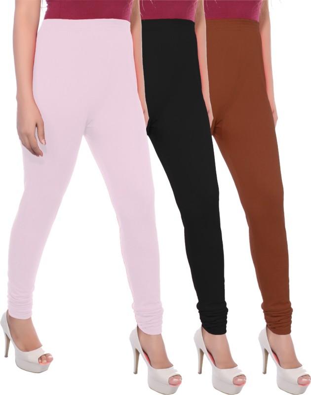 Apple Knitt Wear Women's Maternity Wear Pink, Black, Brown Leggings(Pack of 3)