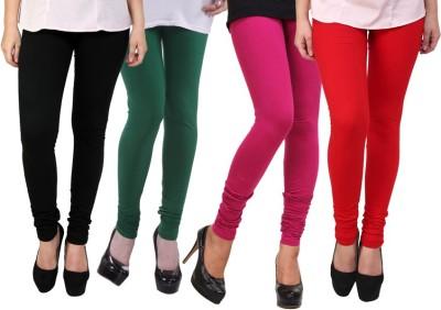 Dharamanjali Women's Black, Green, Pink, Red Leggings