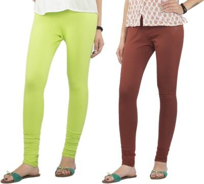 Jublee Women's Brown, Light Green Leggings