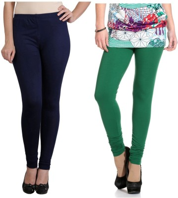 Ahhaaaa Women's Blue, Green Leggings