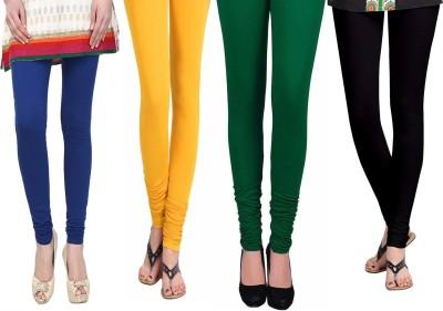 Vastra Buzz Women's Blue, Black, Green, Yellow Leggings