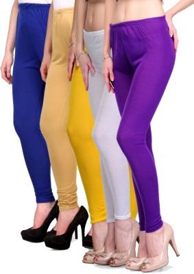 Rowena Women's Blue, Beige, Yellow, White, Purple Leggings