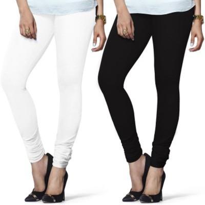 Aashi Women's White, Black Leggings