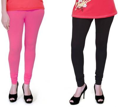 Boofa Women's Pink, Black Leggings
