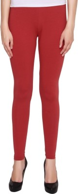 Jainam Girl's Maroon Leggings