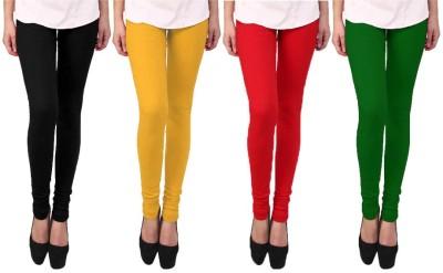 Escocer Women's Black, Green, Red, Beige Leggings