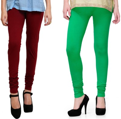 Kvell Be Proud Women's Green, Maroon Leggings