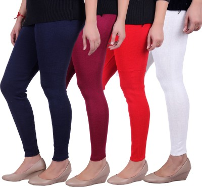 Sellsy Women's Blue, Maroon, Orange, White Leggings