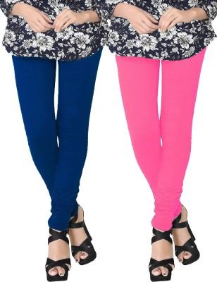 JV Wears Women's Pink, Dark Blue Leggings