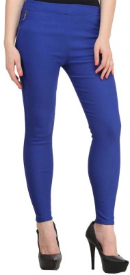 Atharv Collections Women's Blue Jeggings