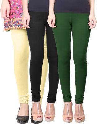 Eshelle Women's Black, Yellow, Dark Green Leggings