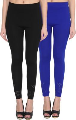 NumBrave Women's Black, Blue Leggings