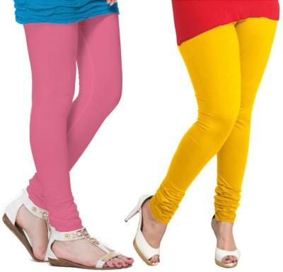 VP Vill Parko Women's Yellow, Pink Leggings