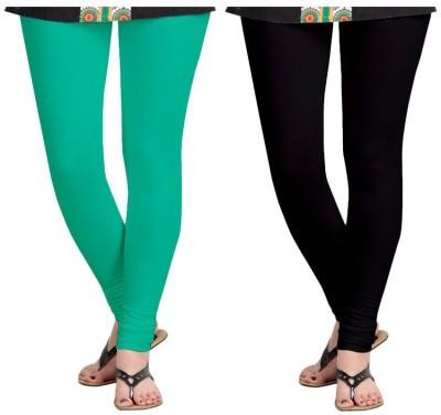 Aaradhyaa Women,s Black, Green Leggings