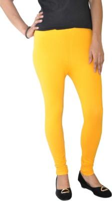 Round Off Women's Yellow, White Leggings