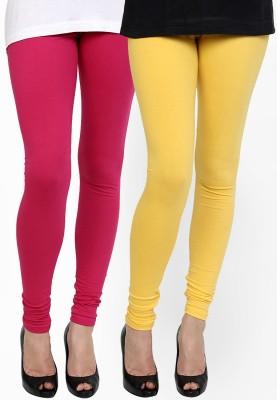 Addline Women's Pink, Yellow Leggings