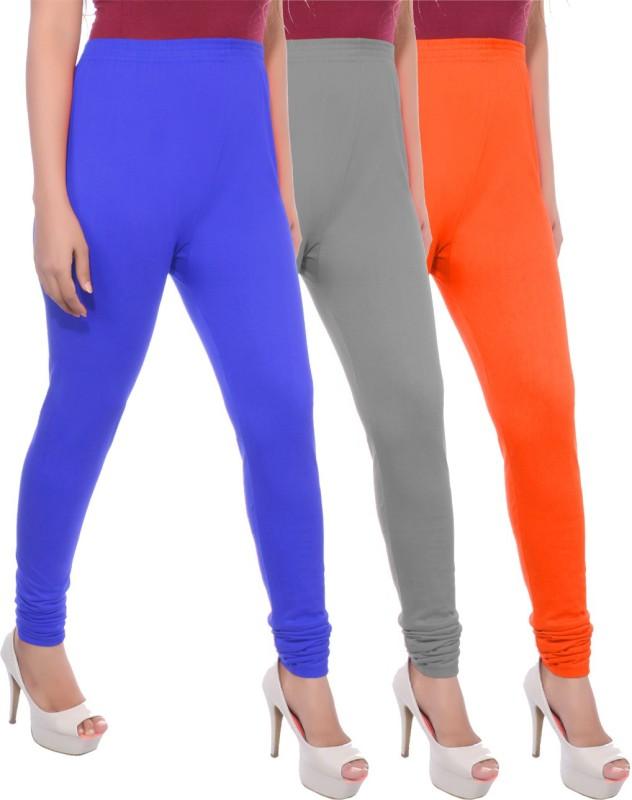 Apple Knitt Wear Women's Maternity Wear Blue, Grey, Orange Leggings(Pack of 3)