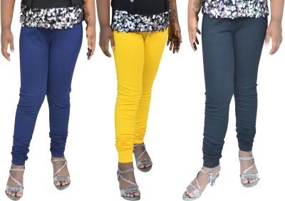 1 For Me Girl,s Dark Blue, Yellow, Black Leggings
