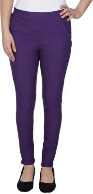 La-Paris Women's Purple Jeggings
