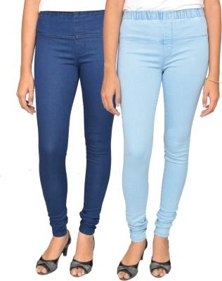 Fashion Club Women's Blue Jeggings