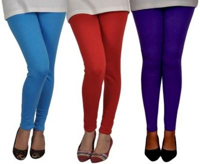 divine creations Girl's Blue, Light Blue, Orange Leggings