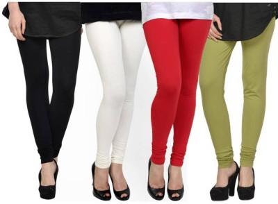 Fashion Zilla Women's Black, White, Red, Light Green Leggings