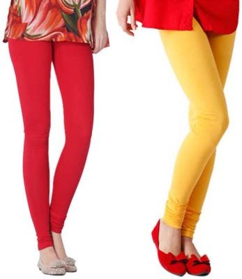VERMELLO Women's Red, Yellow Leggings